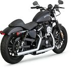 Straightshots HS Chrome Slip On Exhaust VaH 16863 For 14 19 Harley Sportster