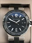 Authentic BVLGARI Diagono DG42SC SS/Ceramic Automatic Men's Watch w/ Box Papers