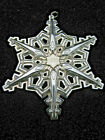 Vintage 1983 Gorham Sterling Silver Christmas Snowflake Ornament