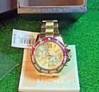 NEW Michael Kors MK5871 Women's Wrist Watch Gold Stainless Steel Analog With Box