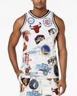 NWT 100% Authentic Heritage America UNK NBA Team Patches Denim Jersey Size XL