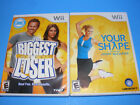 Biggest Loser  Your Shape Jenny McCarthy Nintendo Wii 2009 2 Game SetTESTED