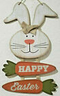 Easter Bunny Rabbit Carrots HAPPY EASTER Hanging Wall Sign Decor 1425 w