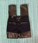 Womens Juniors IRIS Jeans NWT Modern Vintage Faux Leather Skinny Jean Size 5