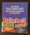 1989 Topps Baseball Yearbook Box 16 Books For Stickers Unused