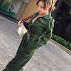 Denim Overalls Vintage Ripped Workwear Slim Fit Jeans Jumpsuit With Jacket