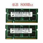 8GB 2 x 4GB 2GB DDR2 800MHz PC2 6400S 200PIN Laptop RAM SODIMM For Micron Lot