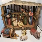 Christmas Nativity Set Southern Living At Home Stable with 9 Pieces