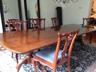 Antique Henredon Mahogany Dining Set Queen Anne Style with 8 Chairs