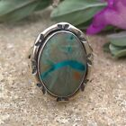 Boulder Turquoise Sterling Silver Ring  Womens Rings  Boho  Native Jewelry