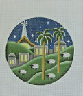 Handpainted Needlepoint Canvas Rebecca Wood Nativity Ornament 1034