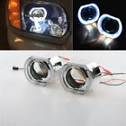 25 Auto HID Bi Xenon Projector Lens Square LED Angel Eyes Halo Ring DRL LHD 2x