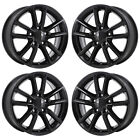 17 DODGE GRAND CARAVAN JOURNEY GLOSS BLACK WHEELS RIM FACTORY OEM 2399 EXCHANGE