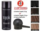 TOPPIK Set Hair Building Fibers 27.5g with SPRAY APPLICATOR Pump Black Brown NEW