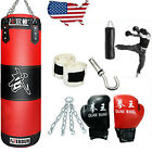Full Heavy Boxing Punching Bag Empty Training Gloves Set Kicking Workout GYM