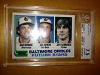 1982 Topps Cal Ripken Baltimore Orioles Rookie Card #21 BGS 7.5 Near Mint+
