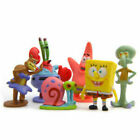 6PCS SpongeBob SquarePants Action Figures Cake Micro Car Decoration Kid toy gift
