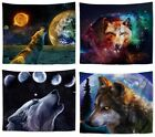 4 pieces power animal wolf native wall hanging beautiful tapestry