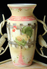 FENTON ROOSTER Country Picket Fence Ltd 3 of 9 RARE Hand Painted M Kibbe VASE