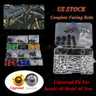 Motorbike Univereal Fairing Bolt Kit Screws Clips For Suzuki RF900R 1993-1999