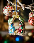 Neiman Marcus Exclusive Nativity Scene Hand Blown Glass Christmas Ornament