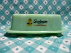 Jadeite Green Glass 1 Stick Sunbeam Bread Butter Dish with Lid / Excellent Cond