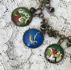 HOW THE GRINCH STOLE CHRISTMAS Picture GLASS CHARM BRACELET Vintage Holiday