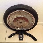 Harley Ironhead Sportster 19 Front Wheel Dunlop Tire and fender