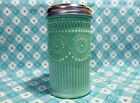 Jadeite Green Glass Beaded Design Restaurant Style Sugar Shaker/ Lid Excellent