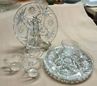 ANCHOR HOCKING EAPC 8 Piece Snack Set Early American Prescut STAR OF DAVID