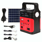 Red Portable Solar Generator Solar Panel Solar Power Inverter Electric Light USB