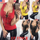 US Sexy Women Summer Vest Top Sleeveless Blouse Casual Tank Tops T Shirt Red