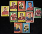 1959-60 Topps Hockey Card Lot Red Wings Blackhawks Norm Ullman (10 pcs)