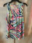 NWT Lilly Pulitzer Luxletic Anisa Top Indigo Sea Dreamin Large Free Shipping