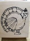 DJ Inkers NEW Mounted Turkey Rubber Stamp Thanksgiving