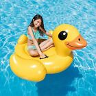 Duck Inflatable Ride On Play Swimming Pool Float Raft Lounger Beach Water Toy