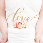 LOVE Cake Topper Sparkle Glitter Gold Wedding Decorating Engagement Party Top RS
