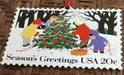 US Christmas Stamps 1994 Hallmark Collectors Series Ornament 2 Children Snow Fun