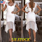 Women Long Lace Dress Evening Party Cocktail Bridesmaid Ball Gowns Dresses New