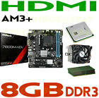 GAMING COMBO AMD FX 4130 QUAD CORE CPU+8GB DDR3 RAM+ASRock HDMI Motherboard NEW