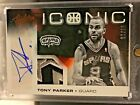 WOW! TONY PARKER 2012-13 PANINI ABSOLUTE ICONIC JERSEY PATCH AUTO SP 10 SPURS