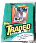 1990 LOT 2 TOPPS TRADED MLB WAX BOX UNOPENED 72 PACKS SUPERSTAR ROOKIES !