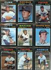 1971 71 Topps LOT MID GRADE 15 2 YOU PICK SINGLES COMPLETE YOUR SET 5 18 2020