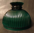 New 10 Green Over Opal Cased Glass Ribbed Student Lamp Shade Hand Blown SH587