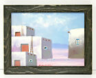 Native American Indian Adobe Hut 12 x 16 Oil Painting on Canvas w Custom Frame