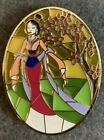 Mulan Stained Glass Cherry Blossom Disney Fantasy Pin LE 50 Flower Limited HTF