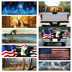 Flaming Skull Rear Window Waterproof Graphic Decal Sticker Kit for Truck Pickup