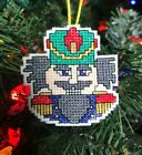 Handmade Cross Stitch Christmas Ornament-Completed-Nutcracker-Ballet-Home Decor