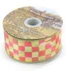 Mackenzie Childs Check Tulip Ribbon 2 By 10 Yards RETIRED NEW Wired Spring