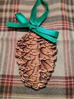 Rare Hallmark Pine cone Mayor Ornament, Laser cut detail, no box, 1991